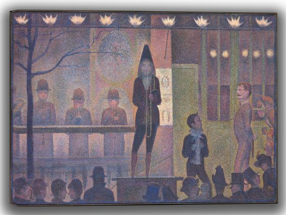 Seurat, Georges: Circus Sideshow. Fine Art Canvas. Sizes: A4/A3/A2/A1 (004149)